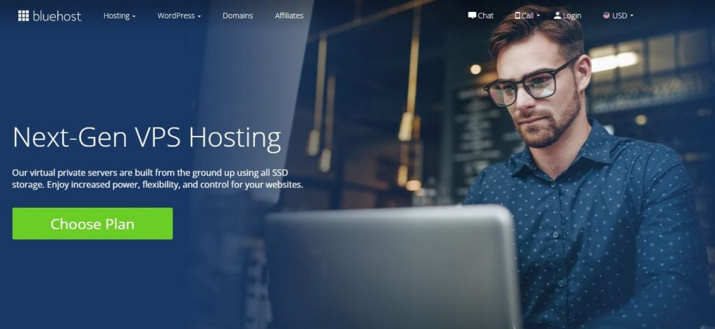 bluehost vps web hosting