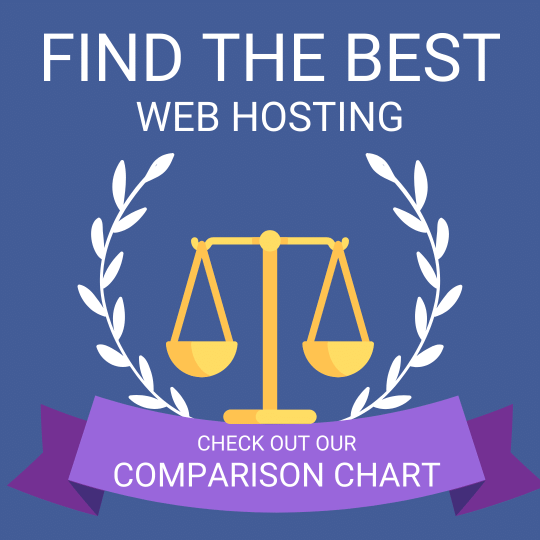 web hosting comparison chart