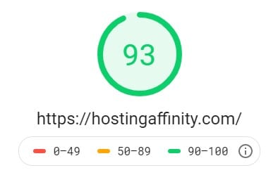 hosting affinity page speed test